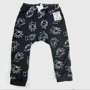 "H&M ""robots/ bright kid"" pants"